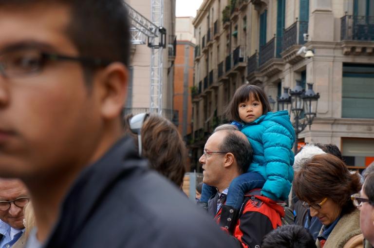 Spectators in Plaça Sant Jaume